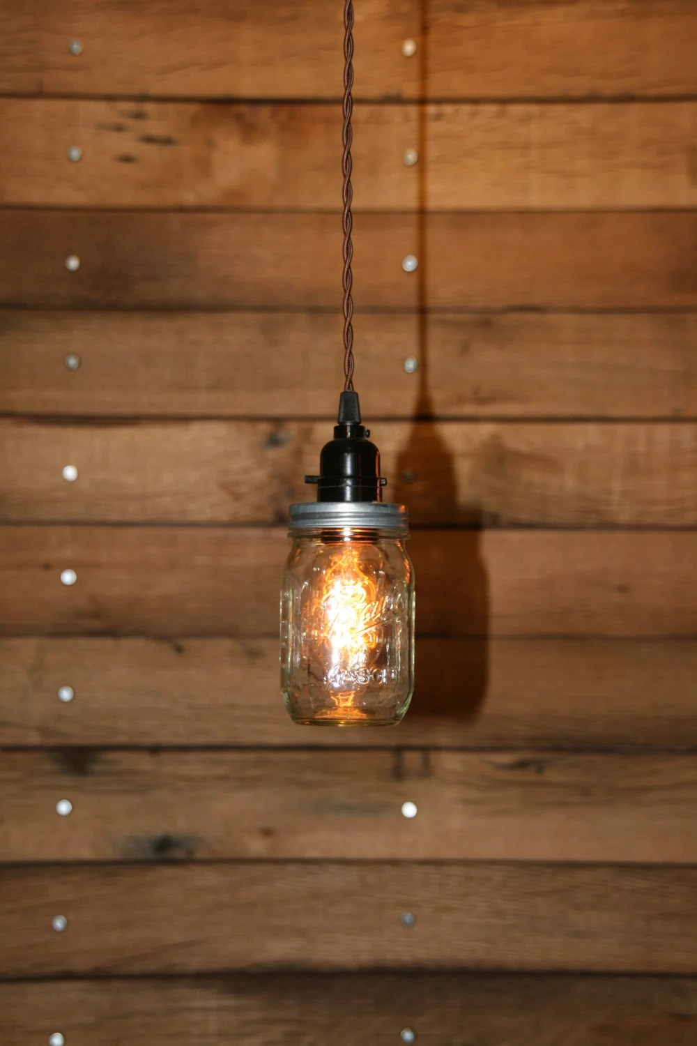 Ball Jar Pendant Light