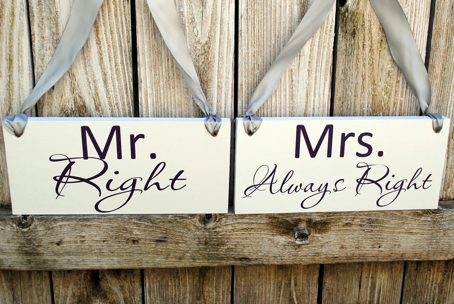 Wood Wedding Signs Mr Right Mrs Always Right By SignsToLiveBy