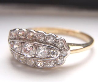 21 Old European Diamonds loaded with Sparkle. Quality 18K Gold. For sale at Sweet Heirloom Vintage. Via Diamonds in the Library.