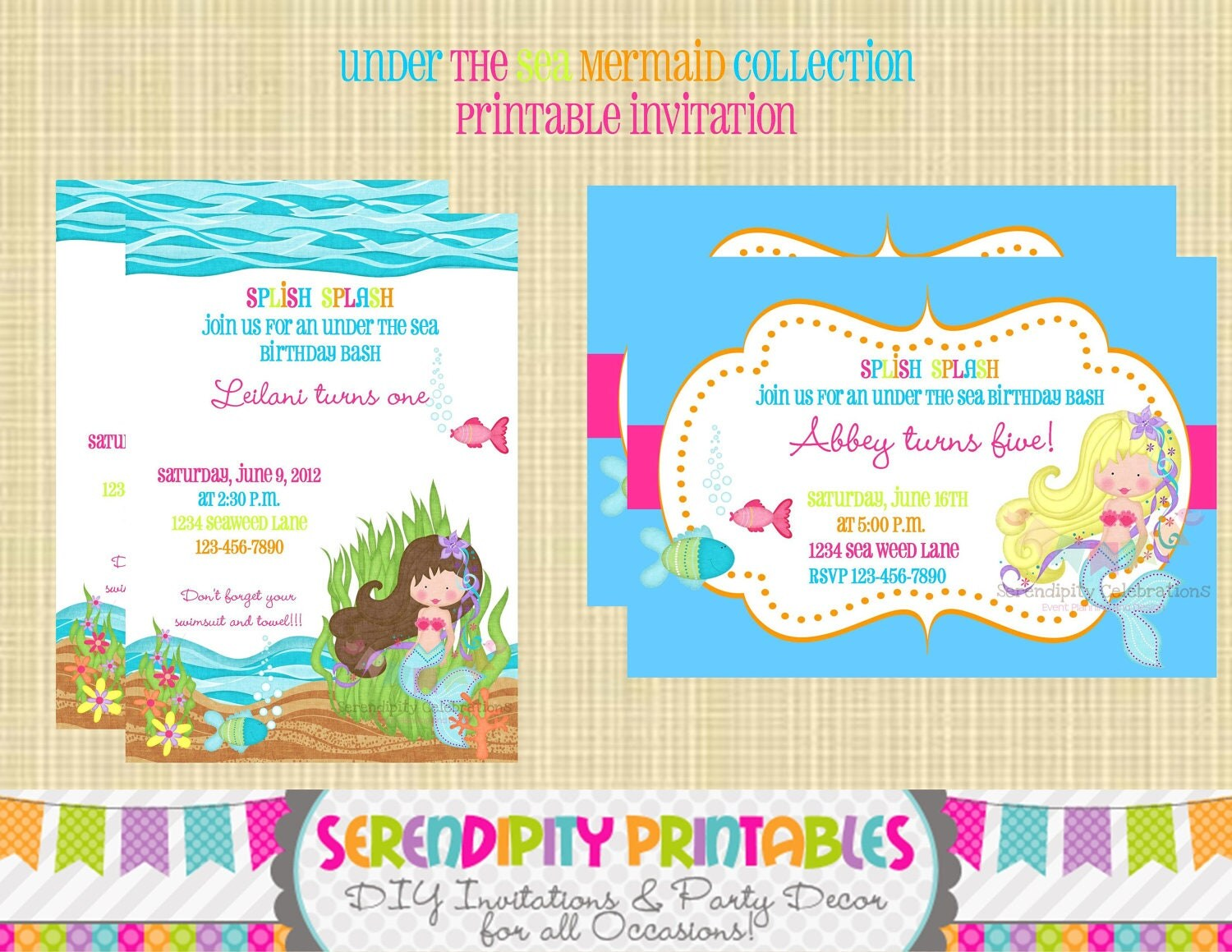 Under The Sea Mermaid Collection By Serendipityprintable