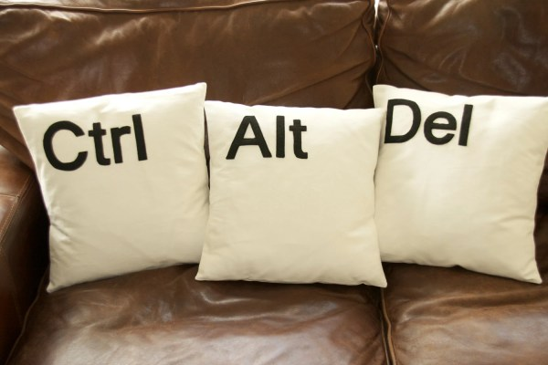 Ctrl Alt Del 16'' pillow cushion cover by GoldenDesignBoutique