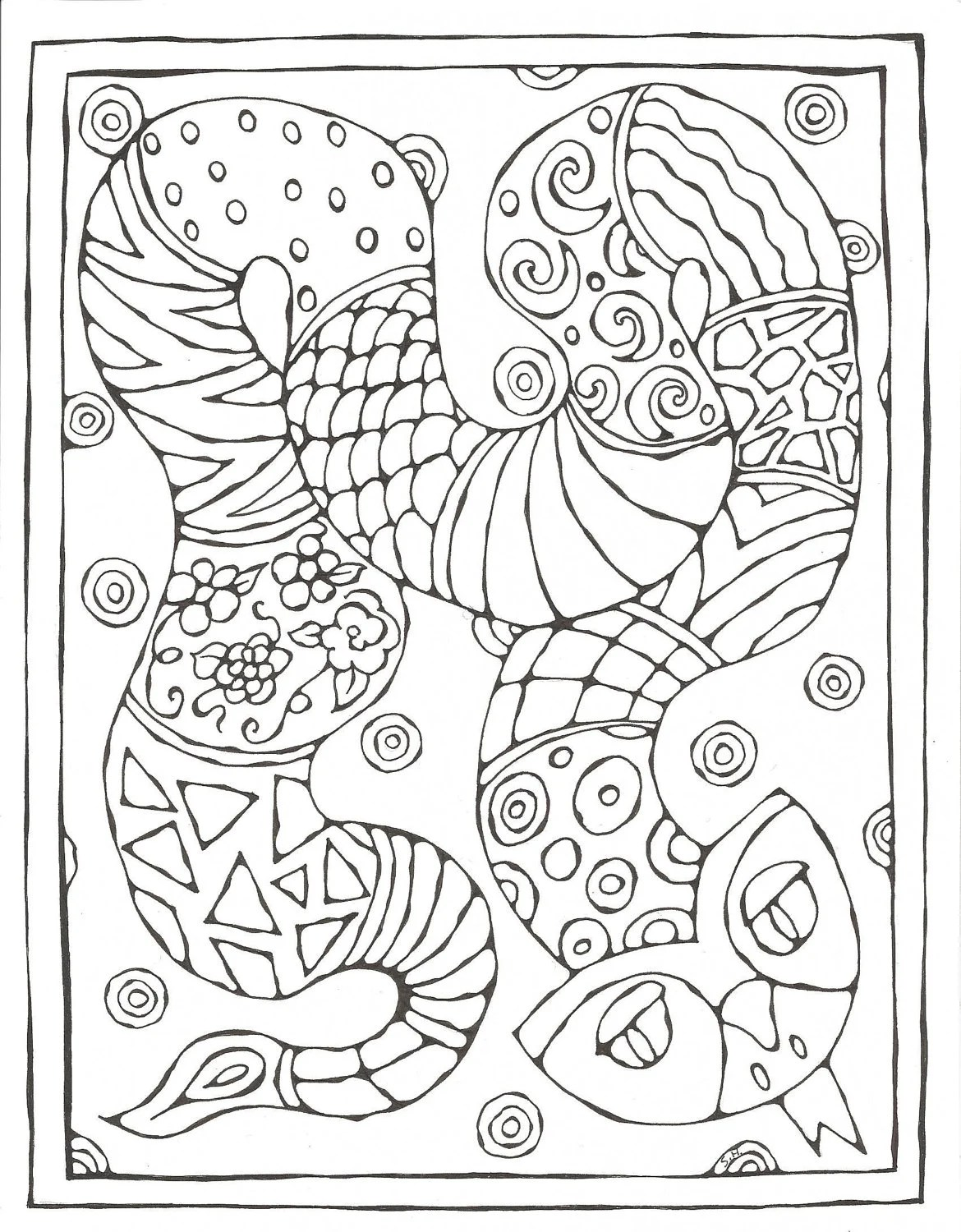 Chinese Zodiac Printable Coloring Pages By Skadoodled On Etsy
