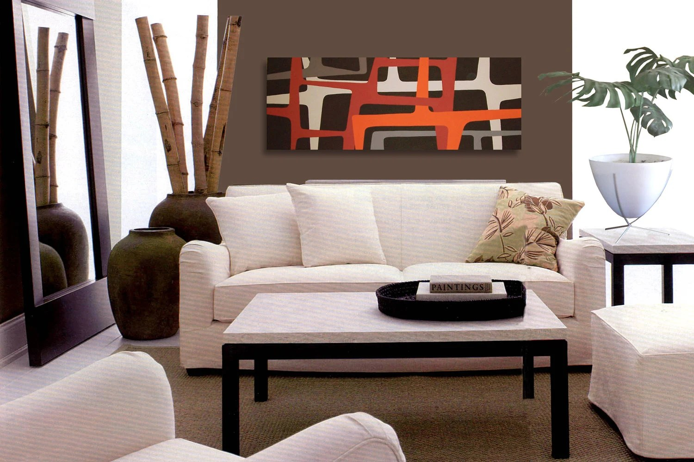 Mid Century Modern Art Painting Eames Era Tiki 60's Retro danish modern Modernist 60s