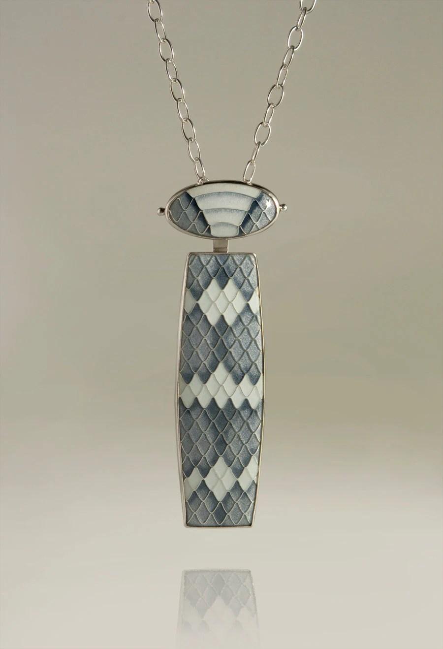 Enamel Jewelry Cloisonne Enamel Silver Pendant Enamel