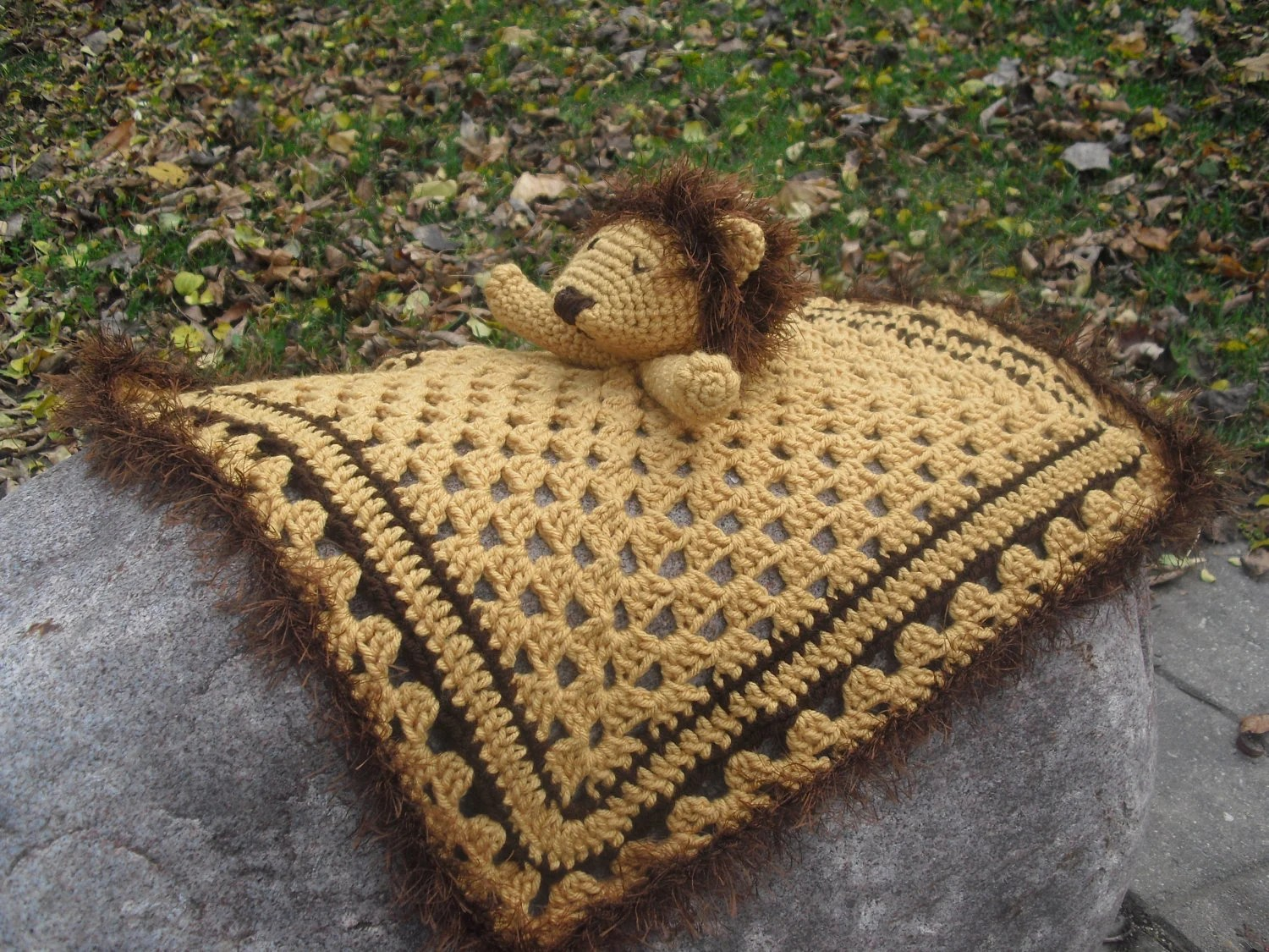 Lion Security Blanket - available for sale on Etsy (click picture for link)