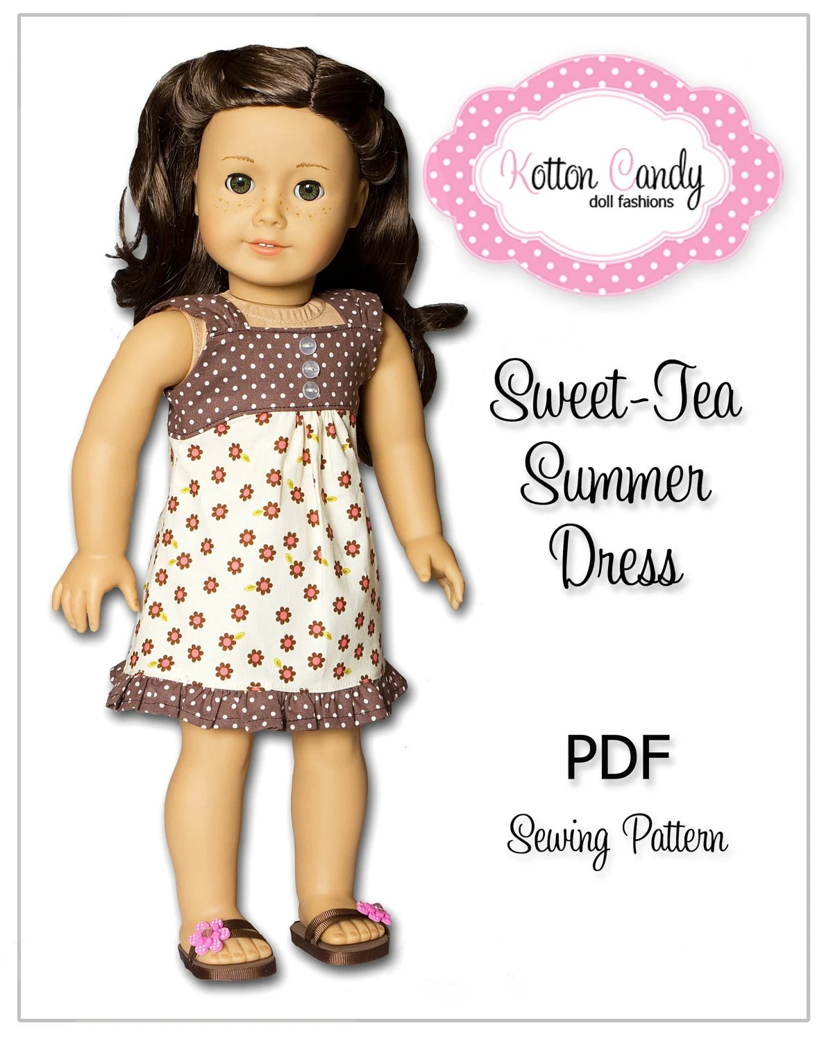 Sewing Pattern For 18 Inch American Girl Doll Clothes