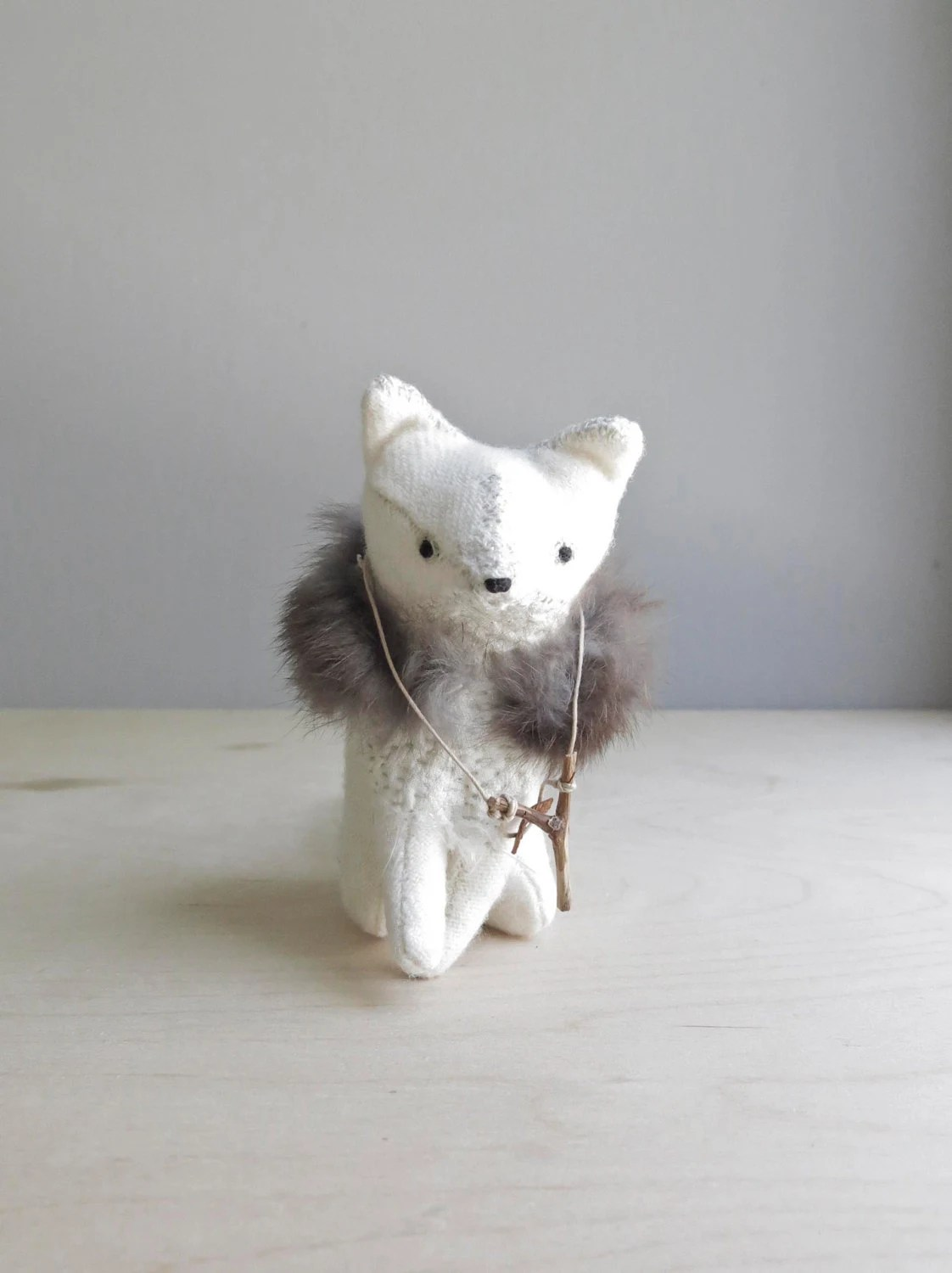 RESERVED / fierce fox / soft sculpture animal