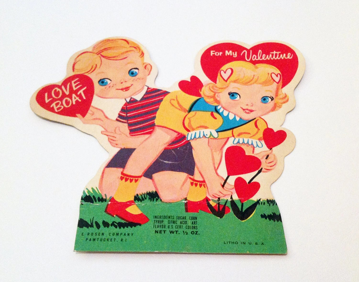 50s Valentines Day Lollipop Card Holder From Perantique