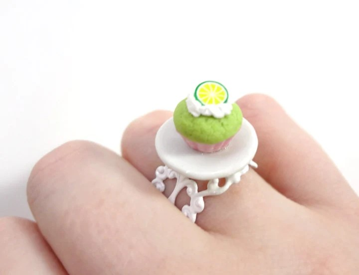 Lime Green Cupcake Ring - Glamour365