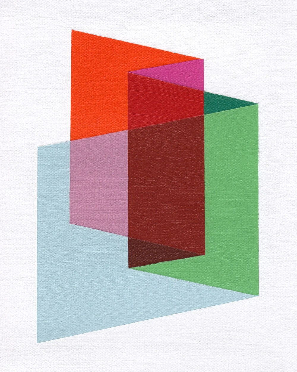 "Giclee print - ""Folds"" - 13"" x 16"" modern geometric abstract art - magnapaint"