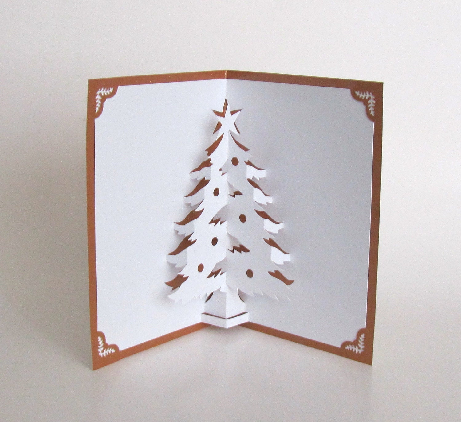 Christmas Tree 3D Pop Up Greeting Card Home Dcor By BoldFolds