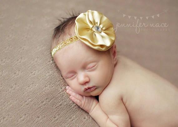 Items Similar To Gold Baby Headband Infant Headband