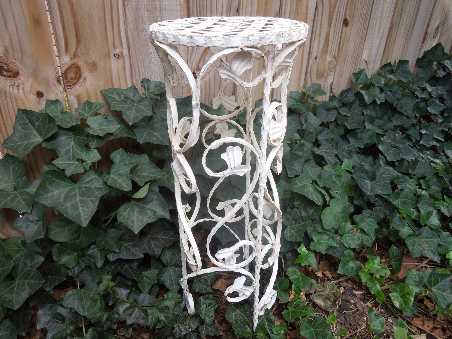 Tall Round End Table