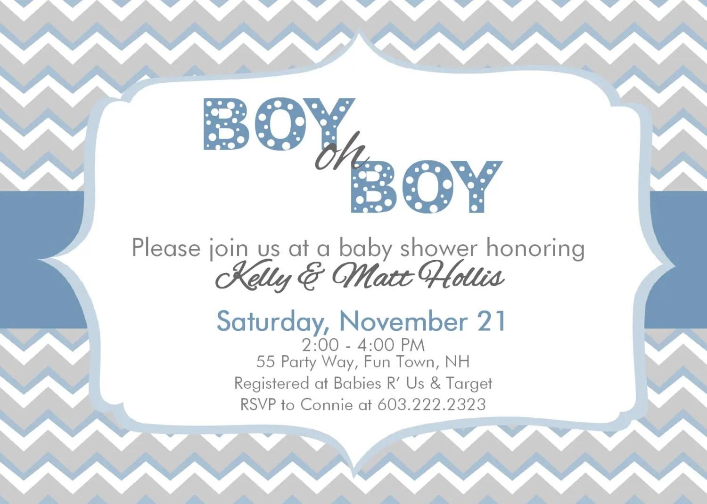 Baby Boy Invitations