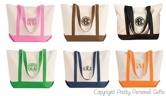 Bags Canvas Totes Embroider