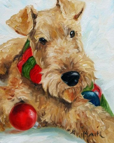 Items Similar To PRINT Welsh Airedale Terrier Dog Puppy