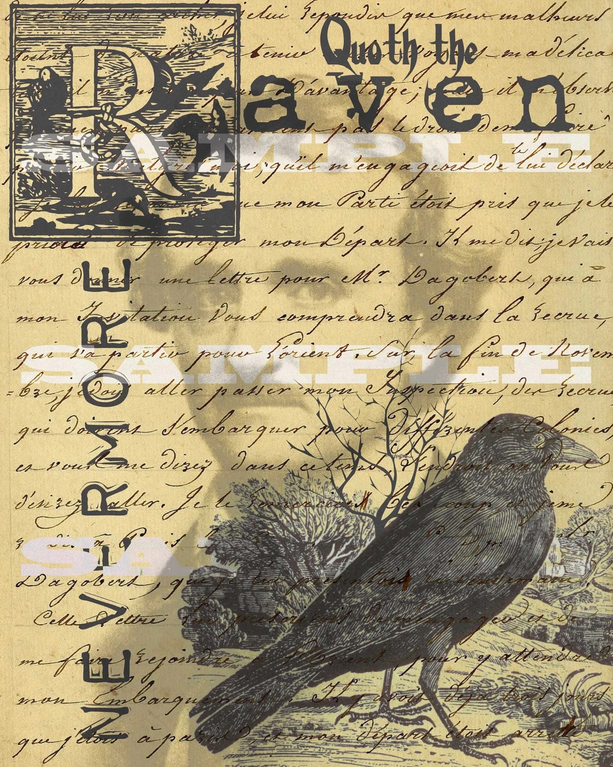 Edgar Allan Poe Quoth The Raven Nevermore Poem By