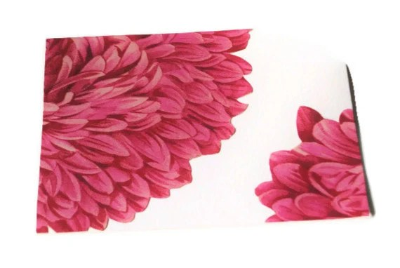 American Beauty Pink Aster Notecard Set of 4 Upcycled Cards in Rose and White - TeroldegoAndTomatoes