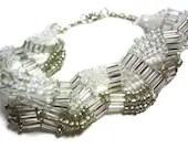 Crystal Wave Bracelet - MegansBeadedDesigns