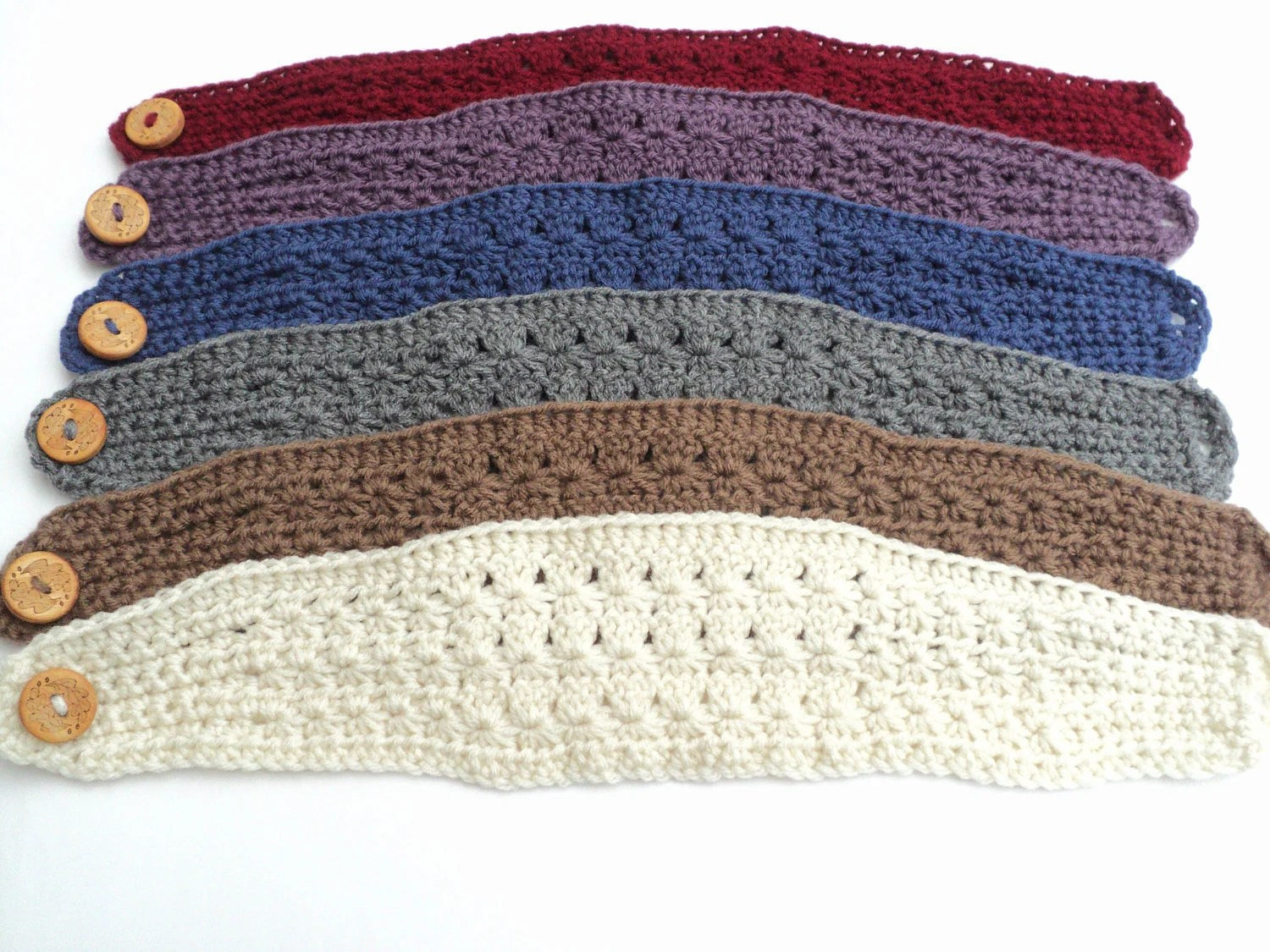 Free Knitted Headband With Button