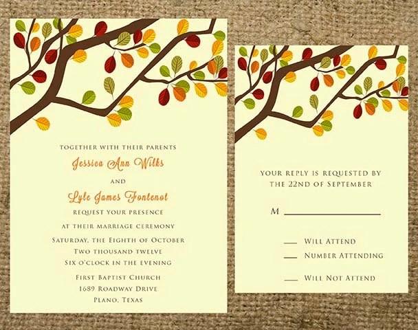 Fall Wedding Invitation Quotes