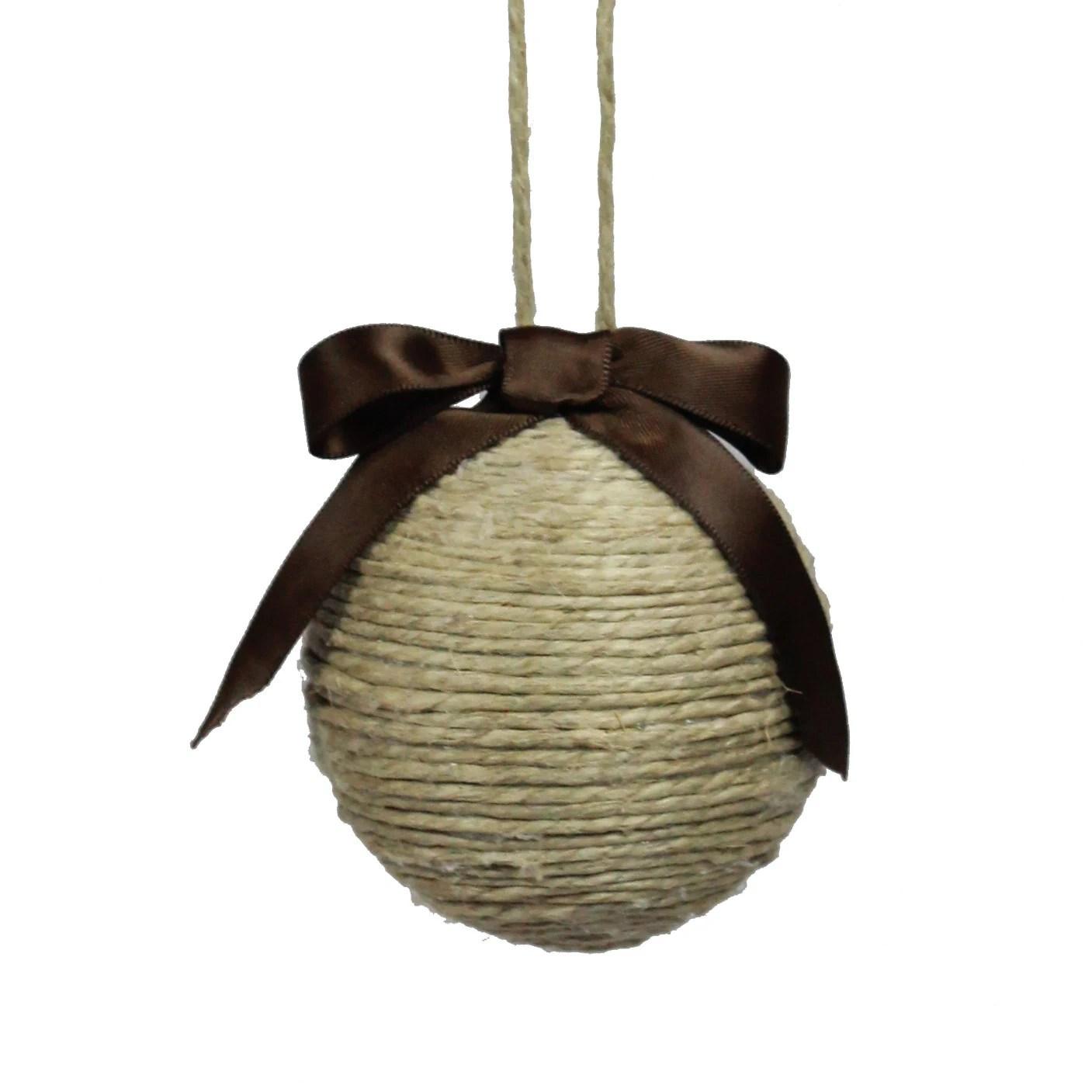 Jute String Ornament Christmas Rustic Wedding Unique Christmas Decor - FoundationCreations
