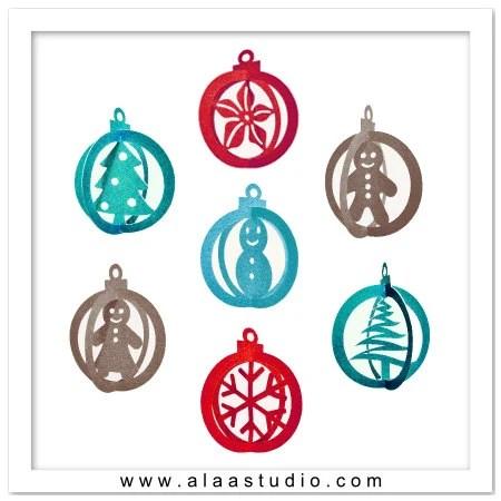 Ornament Templates 3d Printed Christmas