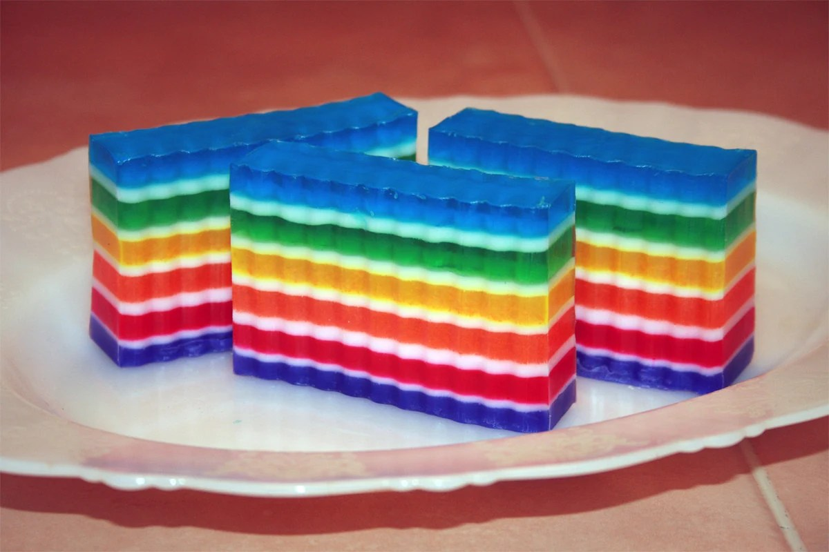 rainbow vegan soap etsy