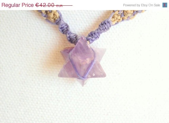 Amethyst Star Macrame Necklace - BloomyCreations