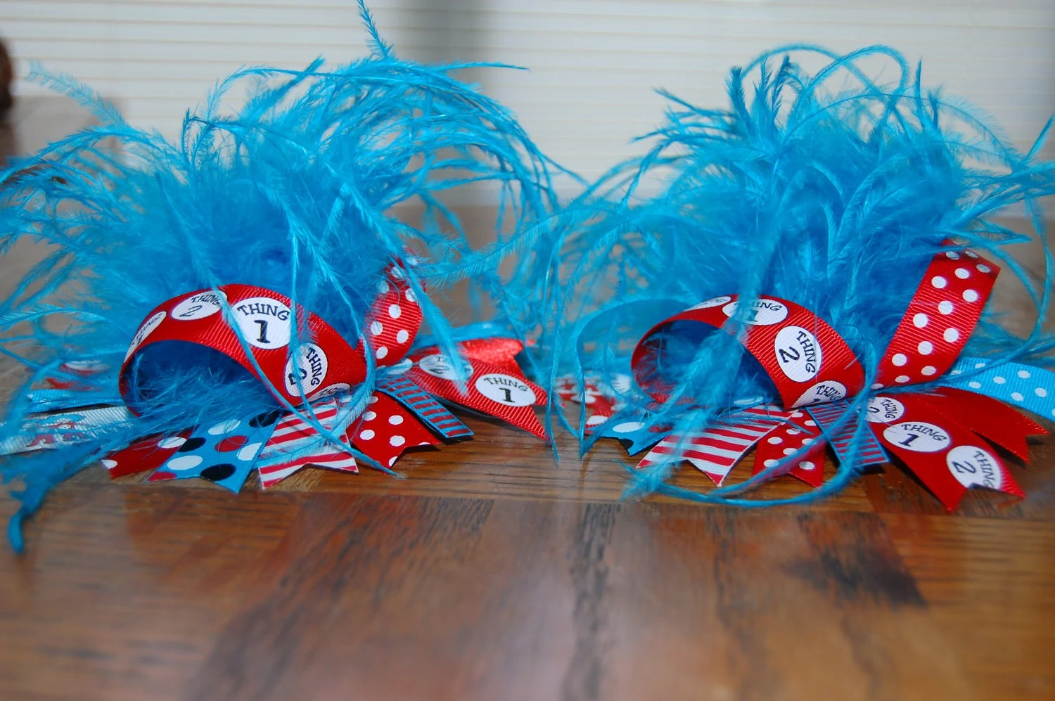 Thing 1 Thing 2 Over The Top Hair Bow With By