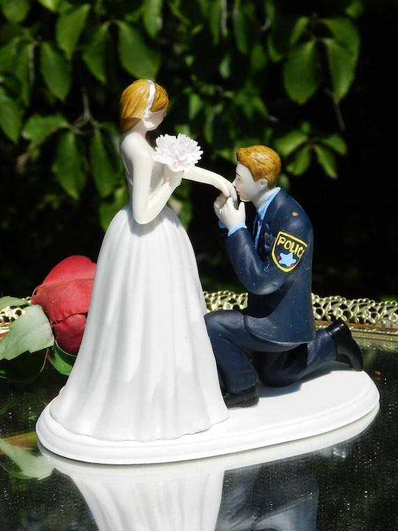 Police Officer Cop Law Enforcement Prince Wedding Cake Topper