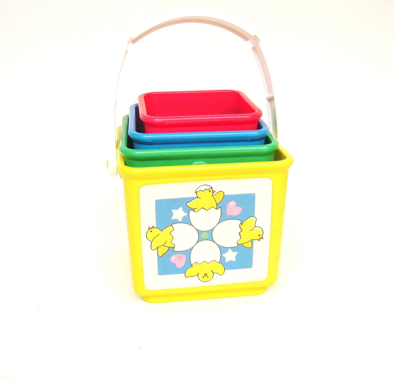 Vintage Fisher Price Baby Toddler Activity Blocks
