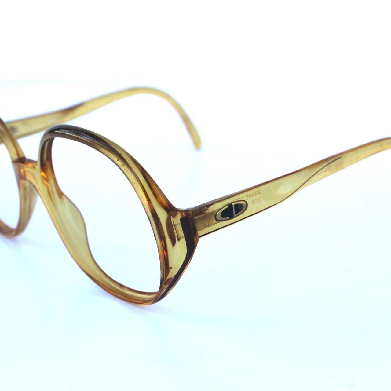 Dior Glasses Frames Official Website : Christian Dior Vintage Circular Caramel Glasses Frames ...