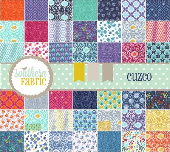 Cuzco by Kate Spain -- Charm Pack 5 inch 42 Quilt Fabric Squares