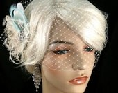 Wedding Accessories, Bridal Accessories, Rhinestone Bridal Ivory Fascinator, Bridal Fascinator, Fascinator, Wedding Veil, Bridal Veil