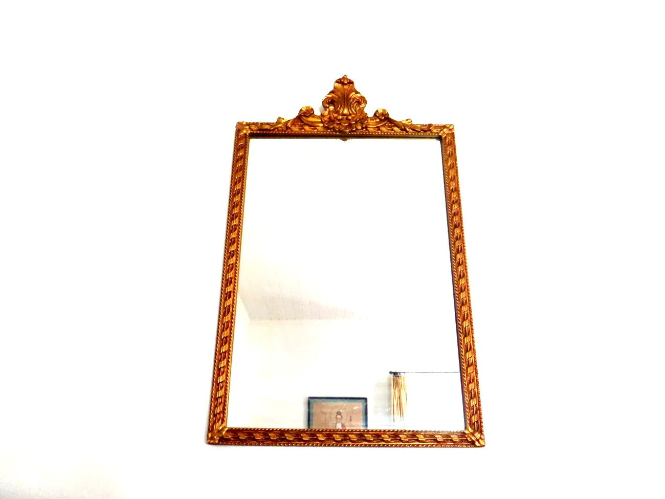 Antique Mirror Large Wood Frame Wall Mirror 1930s
