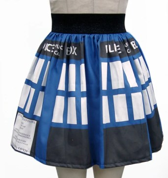 Time Machine Inspired Full Skirt