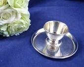 Vintage Chrome Egg Cup - ...