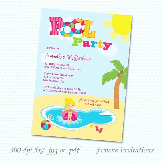 Print Your Own Birthday Party Invitations