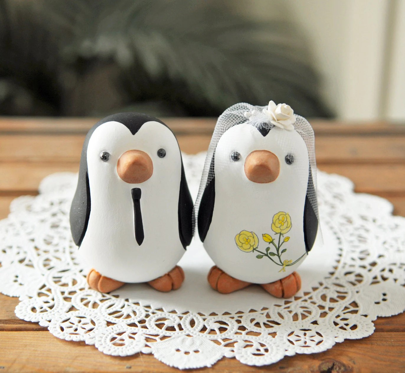 Wedding Cake Topper Penguins Medium