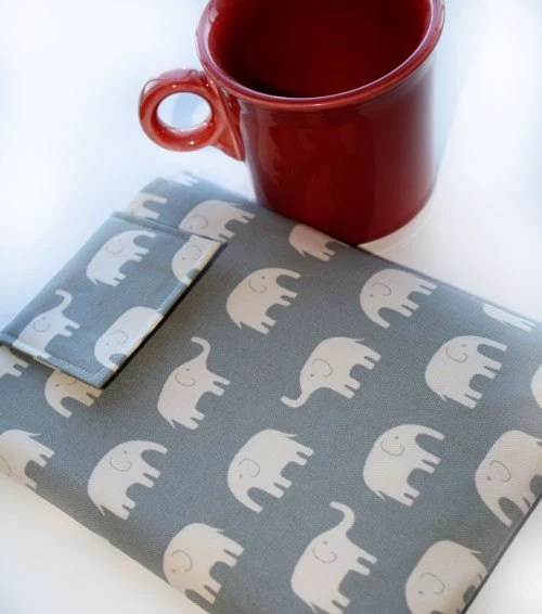 "15"" MacBook Case, MacBook Sleeve, Laptop Case - in Grey Elephants"