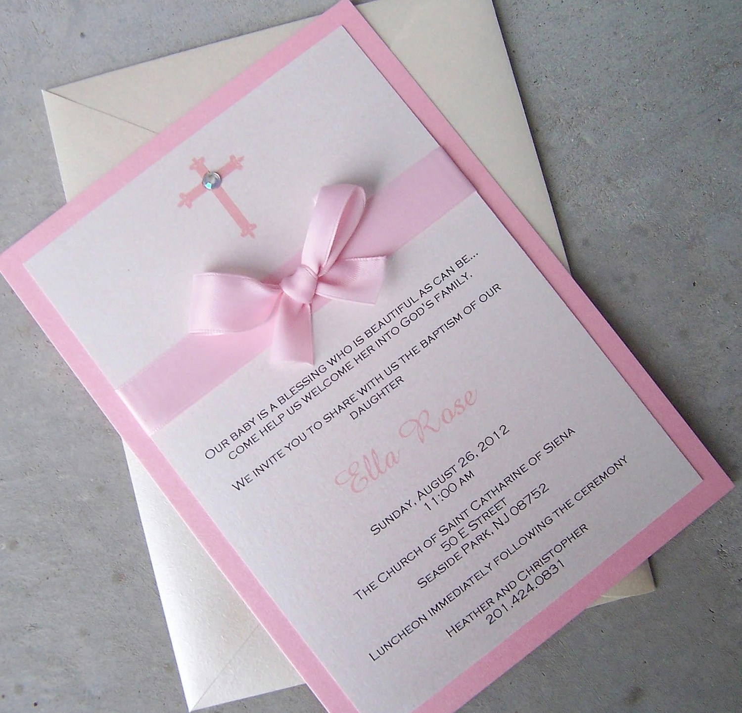 Unique Baptismal Invitation Baby Boy
