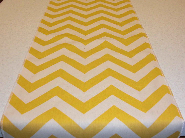 Yellow Chevron Table Runner