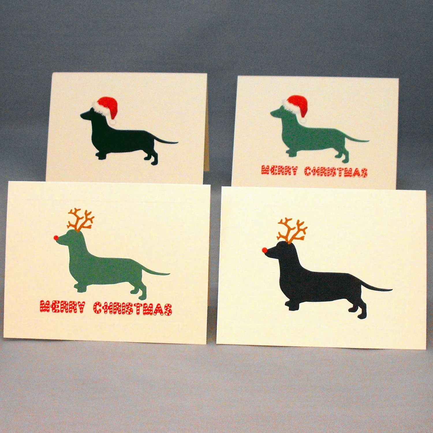 Dachshund Dog Christmas Card Set Doxie Holiday Cards