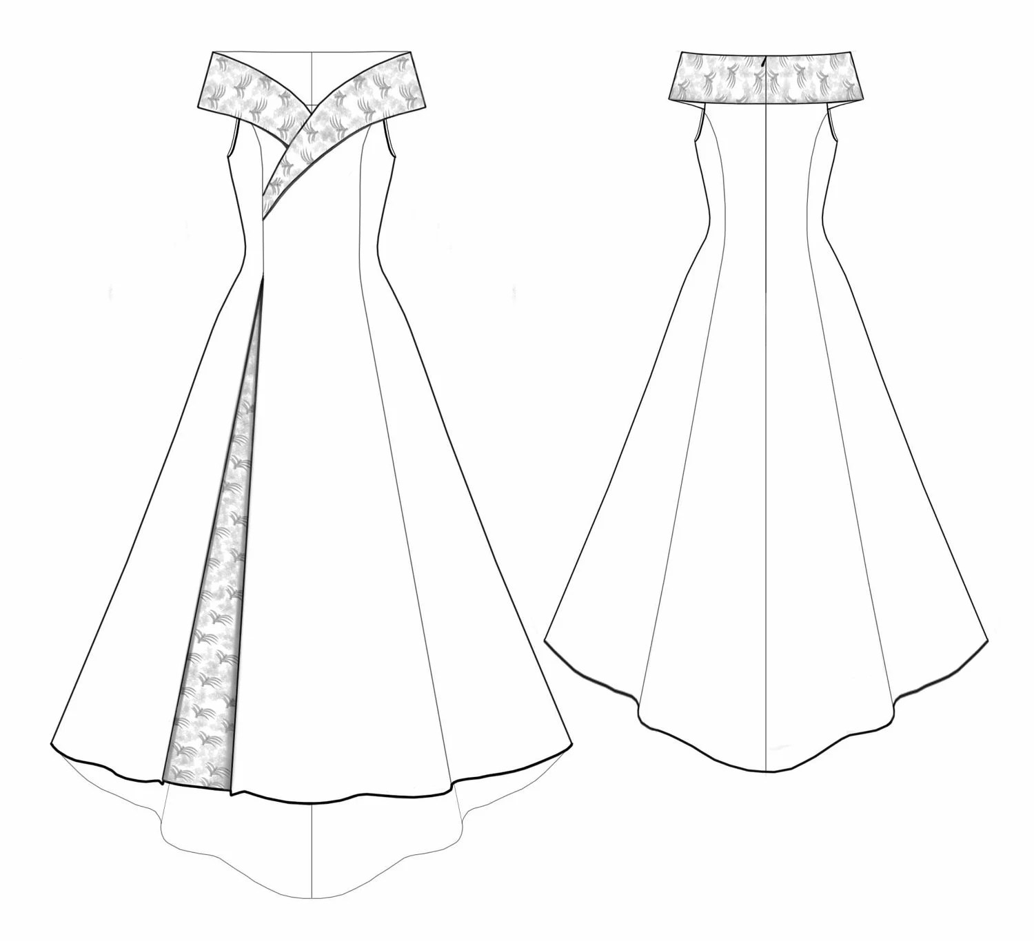 Garment Pattern Card Template