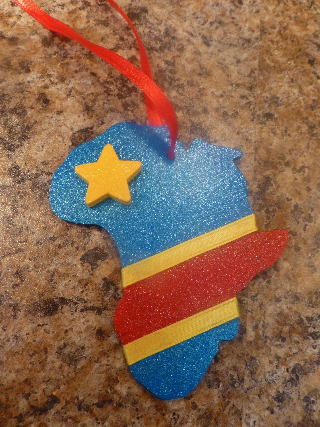 DR Congo FLAG ornament/magnet Adoption Africa fundraiser