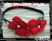 Red Headband, Rhinestone Headband, Girls Headband, Women Hair Accessory
