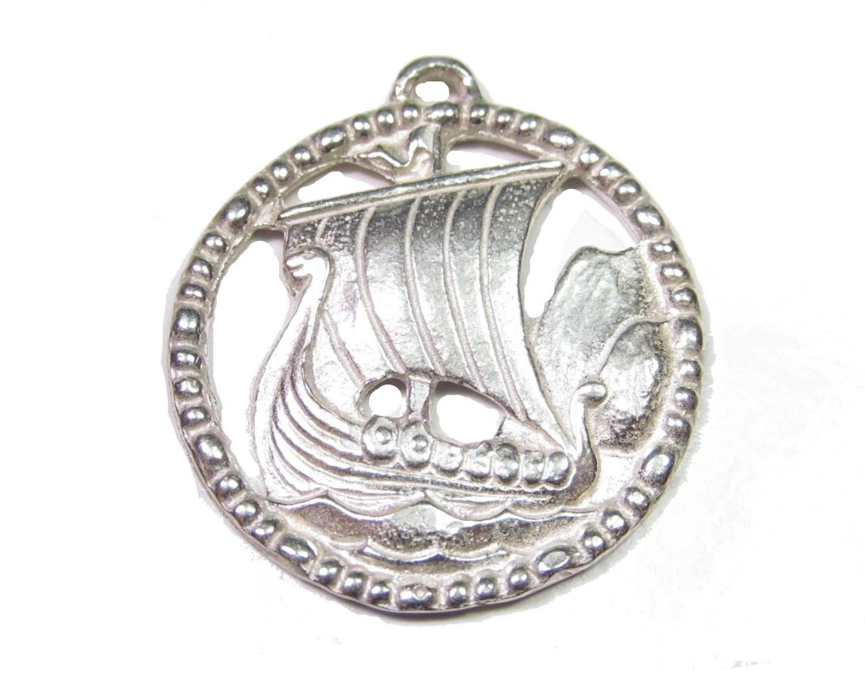 Sterling Silver Viking Ship
