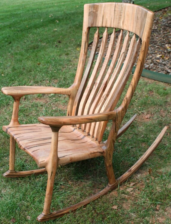 Ambrosia Maple Rocking Chair by WoodInMotion on etsy.com