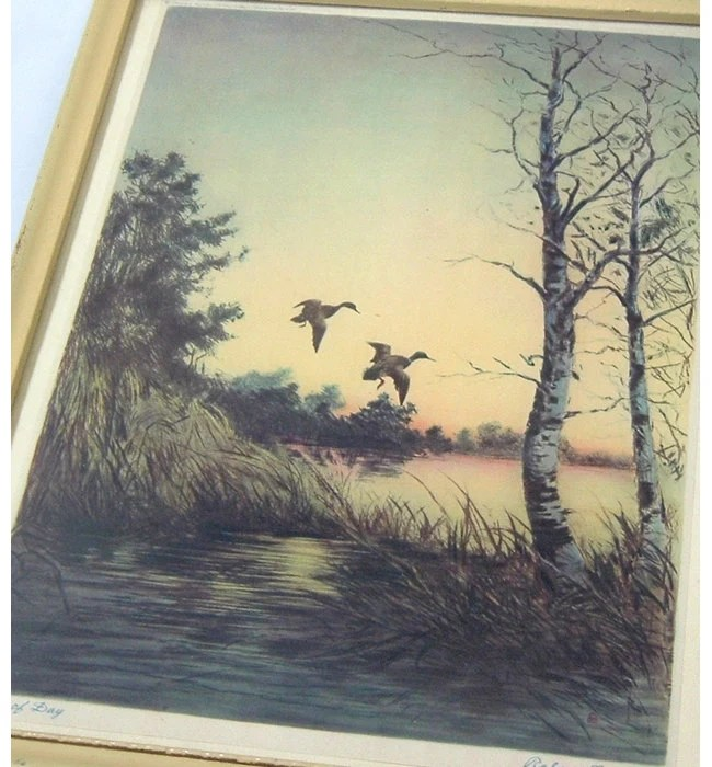 Vintage Print End Of Day By Roland H Clark